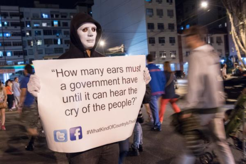 Olympic Rio Protest