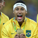 Neymar Gold Medal Photo