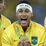 Neymar Gold Medal Photo