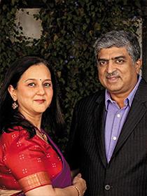 Rohini and Nandan Nilekani