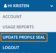Update Profile Seal FDO drop down